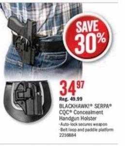 BlackHawk Serps CQC Concealment Handgun Holster