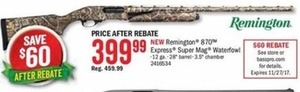 Remington 870 Express Super Mag Waterfowl Rifle After Rebate