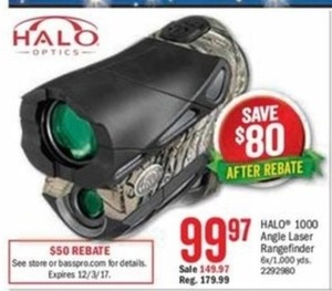 Halo 1000 Angle Laser Rangefinder After Rebate