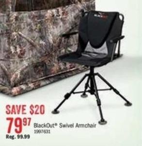 BlackOut Swivel Armchair