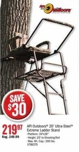 API Outdoors 20' Ultra Steel Extreme Ladder Stand