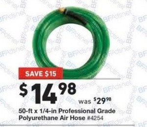"Hitachi 50'x1/4"" Professional Grade Air Hose"