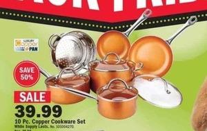 10 pc Copper Cookware Set