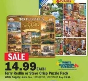 Terry Redlin or Steve Crisp Puzzle Pack