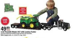 Peterbuilt Model 367  w/ Lowboy Trailer