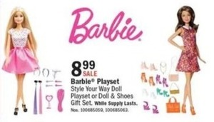 Barbie Styles Your Way Playset or Doll & Shoes Gift Set