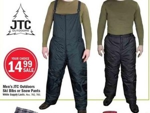 Men's JTC Outdoors Ski Bibs or Snow Pants