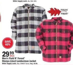 Men's Field N' Forest Sherpa-Lined Lumberman Jacket