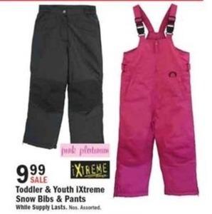 Toddler & Youth iXtreme Snow Bibs & Pants