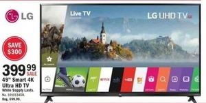 """LG 49"""" Smart 4K Ultra HDTV"""
