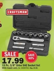 Craftsman 13PC SAE Socket Set