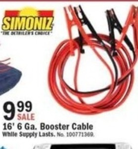 16' 6 ga. Booster Cable