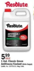 Resolute 1 Gal. Classic Green Antifreeze/Coolant