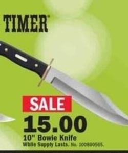 "10"" Bowie Knife"