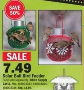 Solar Ball Bird Feeder