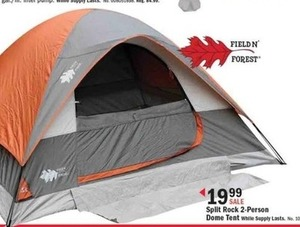 Field N Forest Split Rock 2-Person Dome Tent