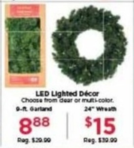 LED Lighted Decor 9 ft. Garland