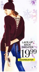 Lace- Up Back Sweater