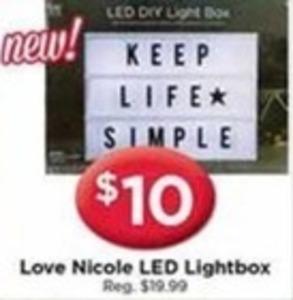 Love Nicole LED Lightbox