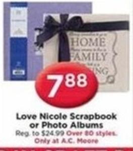 Love Nicole Scrapbook or Photo Albums