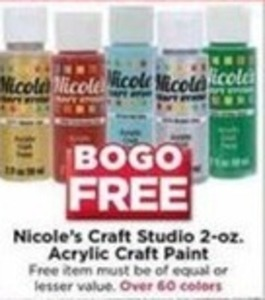 Nicole's Craft Studio 2-oz. Acrylic Craft Paint