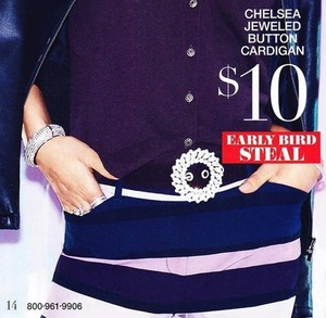Chelsea Jeweled Button Cardigan