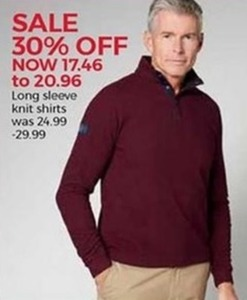 Men's Long Sleeve Knit Shirts