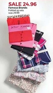 Famous Brand Folded PJ Sets