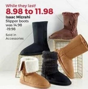 Isaac Mizrahi Slipper Boots