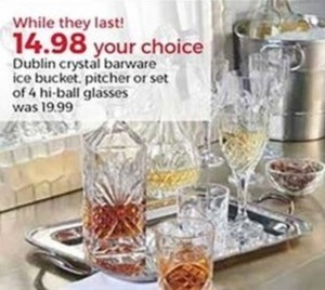 Dublin Crystal Barware Ice Bucket