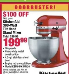 KitchenAid 300-Watt Tilt Head Stand Mixer