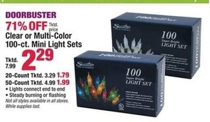 Clear or Multi-Color 100-ct. Mini Light Sets