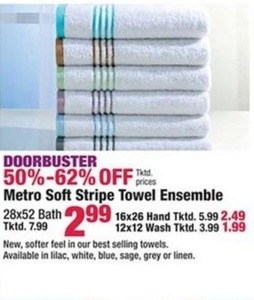 Metro Soft Stripe Towel Ensemble