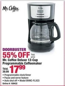 Mr. Coffee Deluxe 12-Cup Programmable Coffeemaker