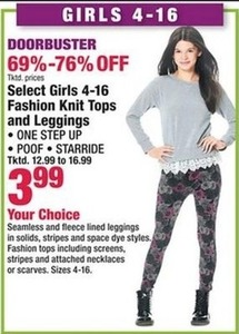 Select Girl's Fashion Knit Tops and Leggings