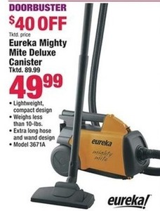 Eureka Mighty Mite Deluxe Canister