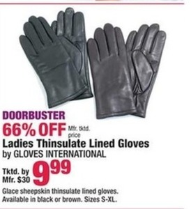 Gloves International Women's Lined Gloves