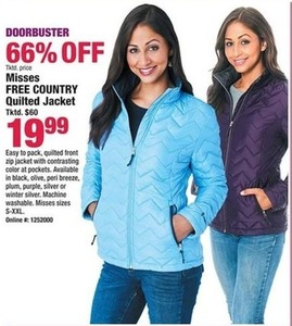 Misses Free Country Quilted Jacket