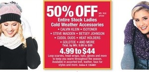 Entire Stock Ladies Cold Weather Accessories