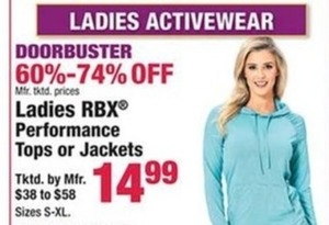 RBX Women's Performance Tops or Jackets