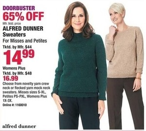 Alfred Dunner Sweaters, Misses and Petites