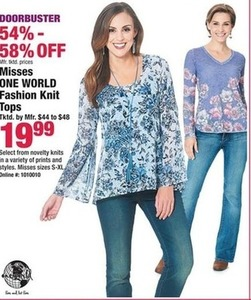 Misses One World Fashion Knit Tops