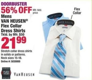 Van Heusen Flex Collar Dress Shirts