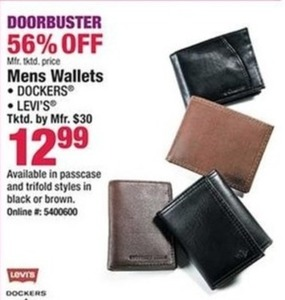 Men's Dockers and Levi's Wallets