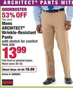 Mens Architect Wrinkle-Resistant Pants