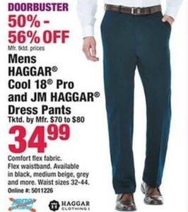 Men's Haggar Cool 18 Pro and JM Haggar Dress Pants