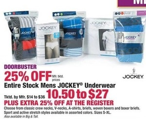 Entire Stock Mens Jockey Underwear