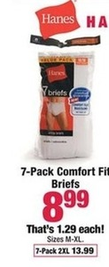 7-pack Comfort Fit Briefs