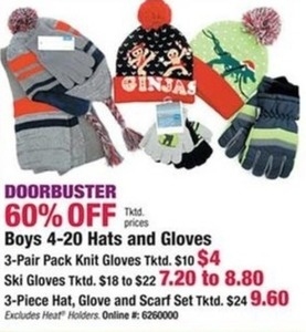 Boys' Hats & Gloves