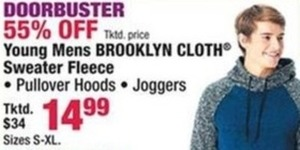 Young Mens Brooklyn Cloth Sweater Fleece
